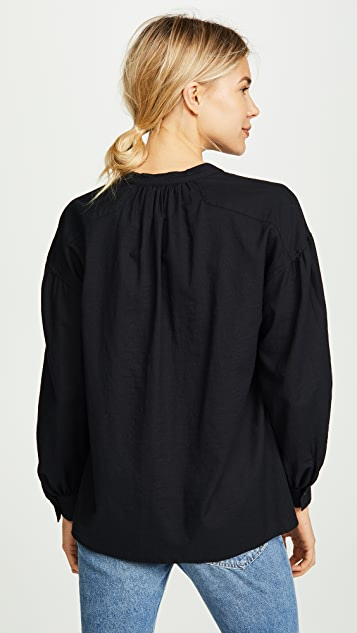 Vince Shirred Blouse