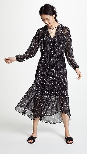 Vince Brushstroke Shirred Dress
