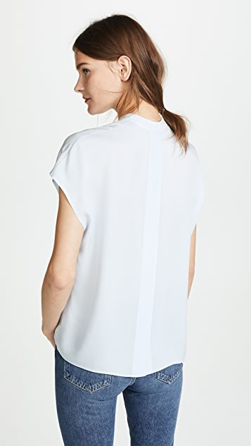 Vince Back Slit Popover Blouse
