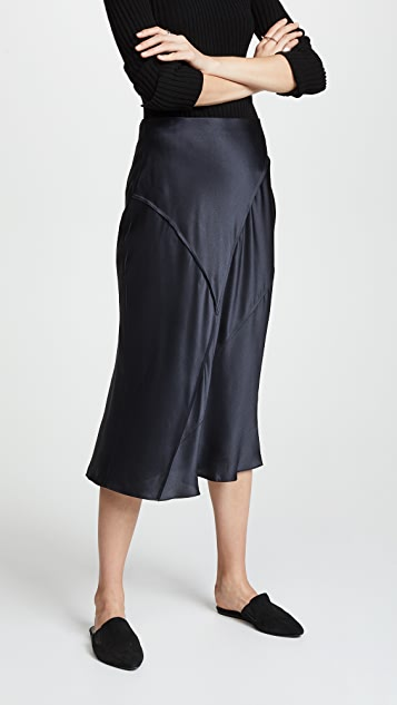 Vince Raw Edge Bias Skirt