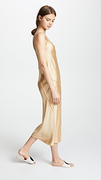 Vince Raw Edge Tank Dress