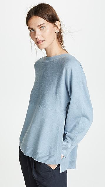 Vince Side Slit Boat Neck Sweater