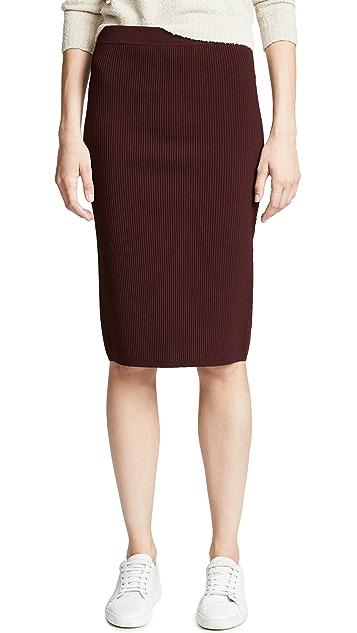 Vince Ribbed Skirt