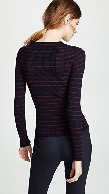 Vince Stripe Ribbed Sweater