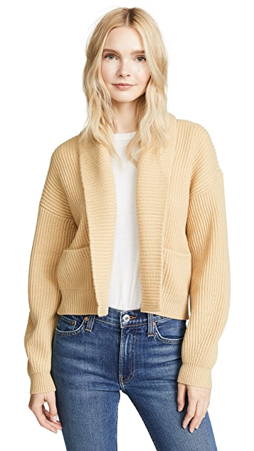 Vince Cropped Ribbed Cardigan