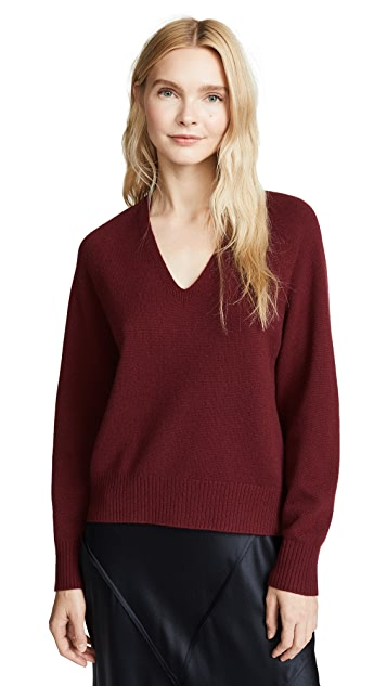 Vince Deep V Raglan Sweater