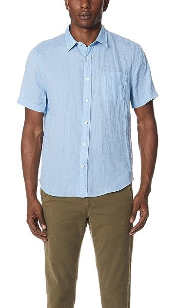 Vince Washed Short Sleeve Shirt
