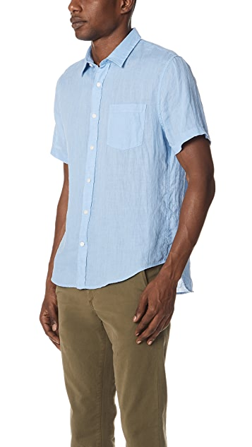 Vince Washed Short Sleeve Shirt