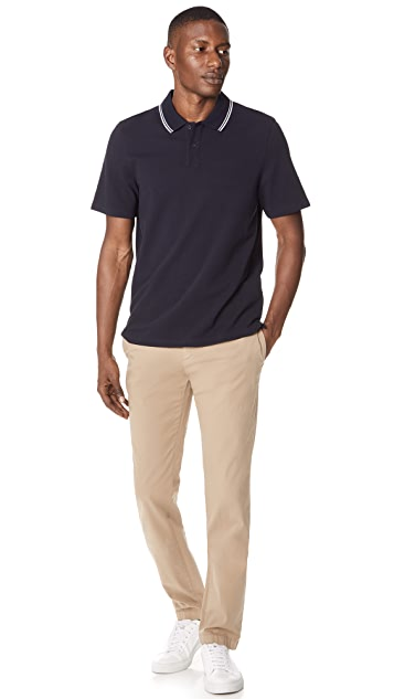 Vince Rib Tipped Polo Shirt