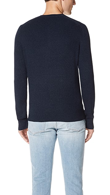 Vince Ribbed Henley