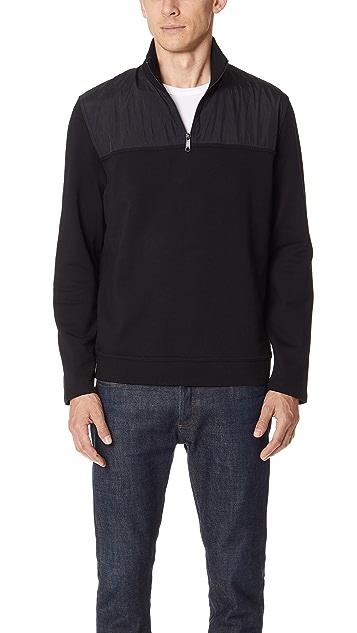 Vince Mixed Media Half Zip Jacket