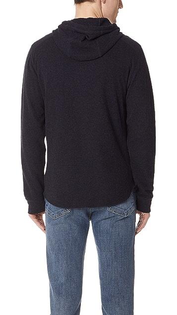 Vince Long Sleeve Knit Hoodie