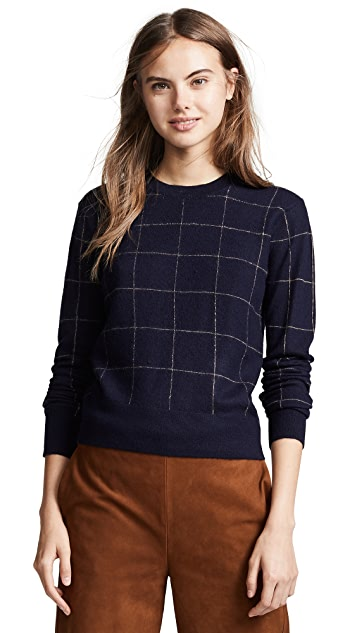 Vince Window Pane Cashmere Sweater