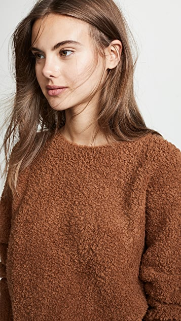 Vince Teddy Boat Neck Sweater