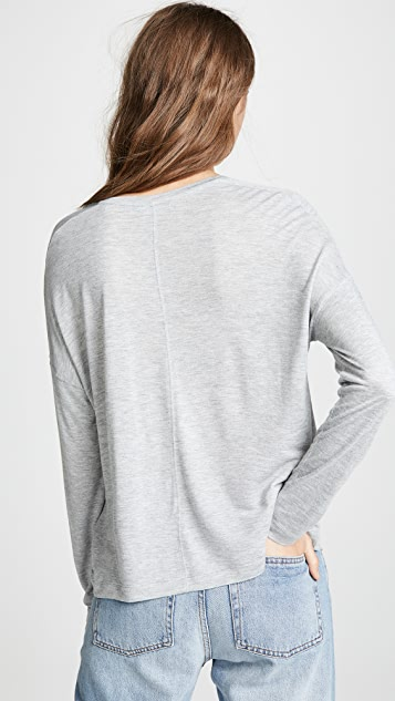 Vince Drop Shoulder V Neck Top