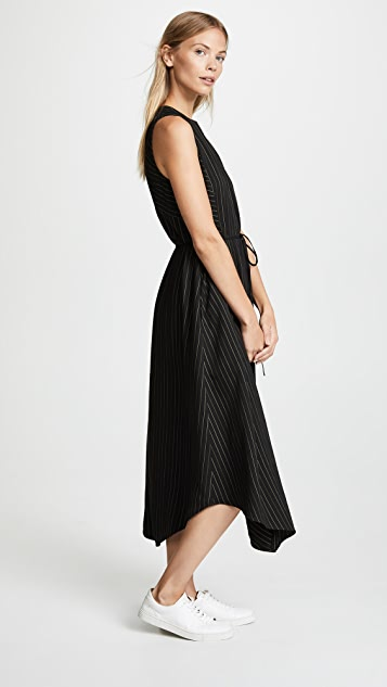 Vince Bar Stripe Paneled Dress