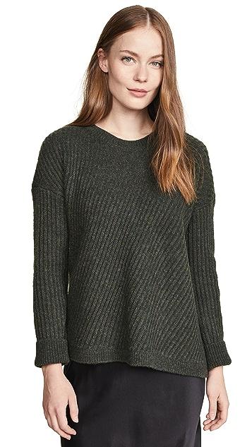 Vince Side Slit Crew Neck Sweater