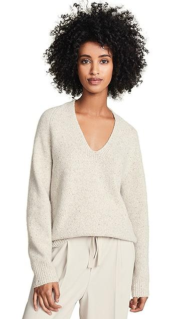 Vince Deep V Neck Raglan Sweater