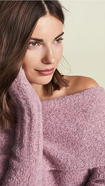 Vince Off Shoulder Pullover Sweater