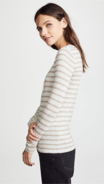 Vince Stripe Long Sleeve Top