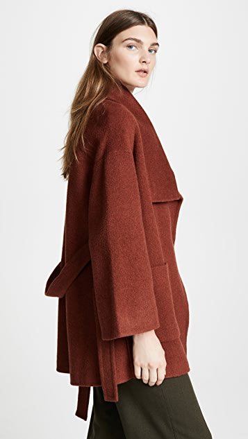 Vince Wool Blanket Coat