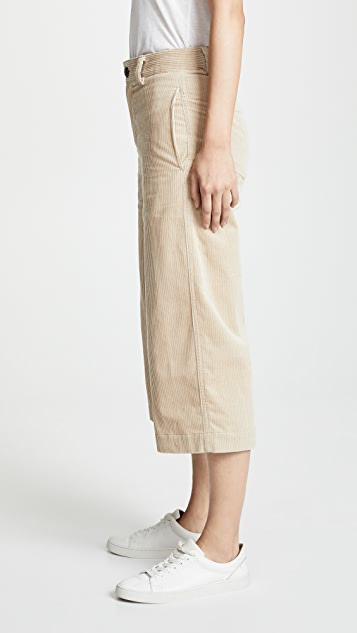 Vince Corduroy Cropped Wide Pants