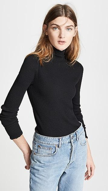 Vince Lettuce Edge Turtleneck Sweater
