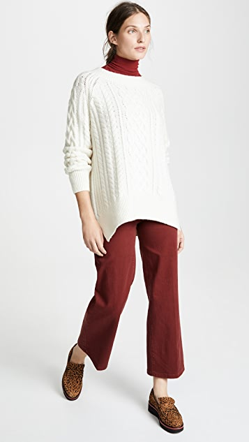 Vince Cable Knit Wool Tunic Sweater