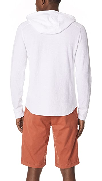 Vince Double Knit Hooded Henley