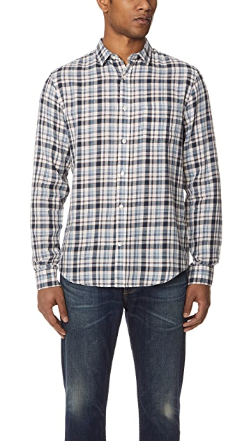 Vince Plaid Long Sleeve Shirt