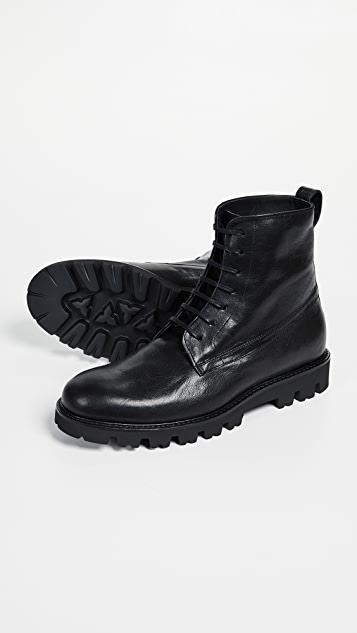 Vince Commander Lug Sole Lace Up Boots