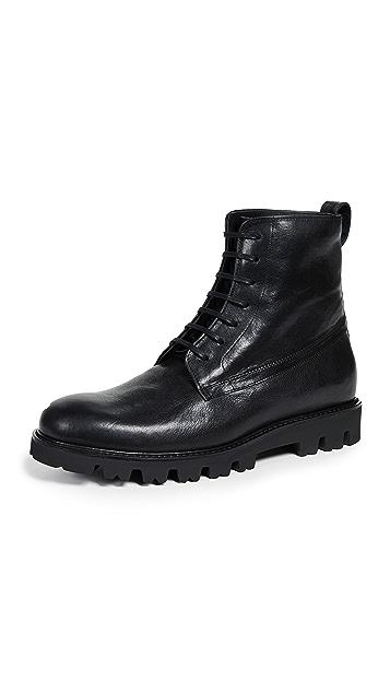 Vince Commander Lug Sole Lace Up Boots
