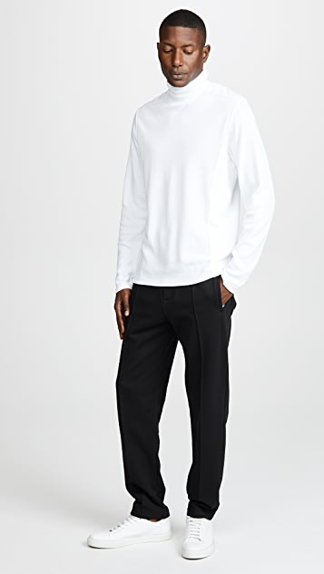 Vince Waffle Turtleneck Long Sleeve Shirt
