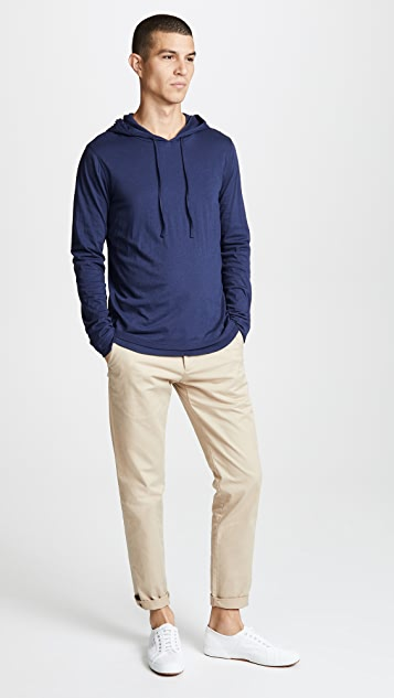 Vince Double Layer Pullover Hoodie