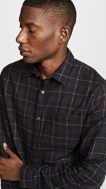 Vince Double Face Plaid Shirt