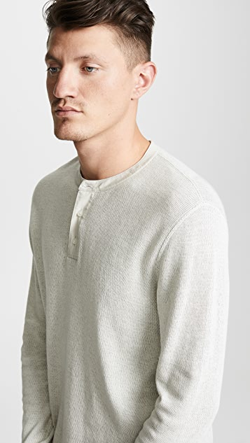 Vince Thermal Henley Shirt