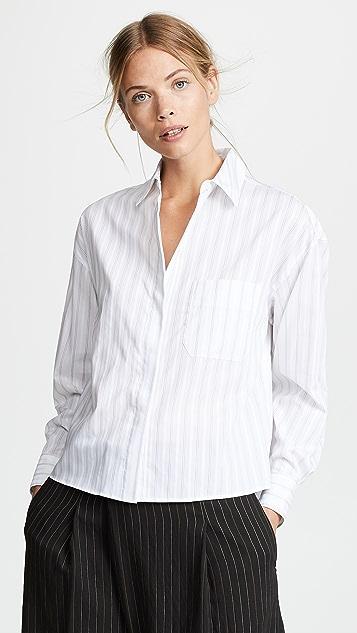 Vince Pinstripe Boxy Shirt