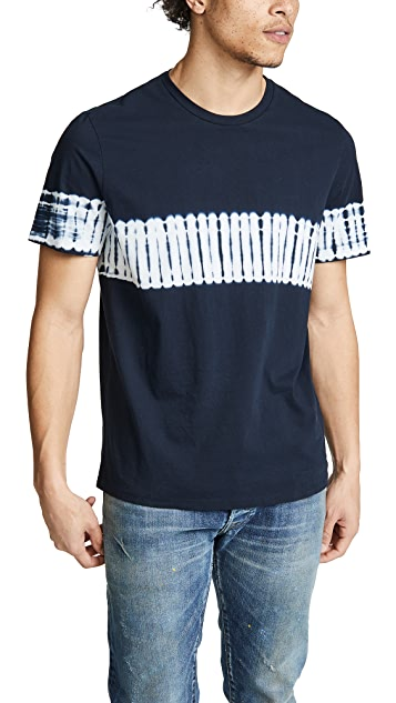 Vince Shibori Tie Dye Short Sleeve Tee