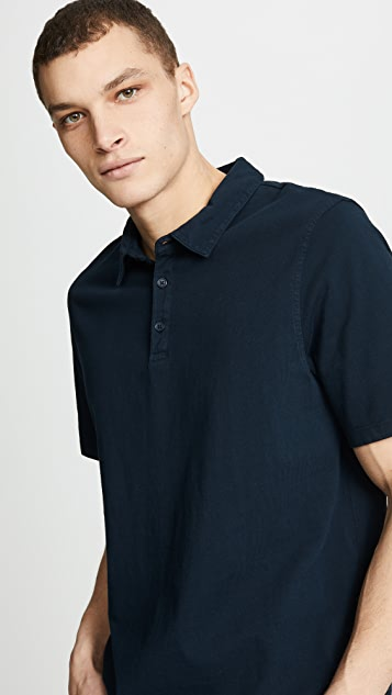 Vince Garment Dye Short Sleeve Polo