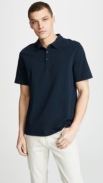 Vince Garment Dye Short Sleeve Polo