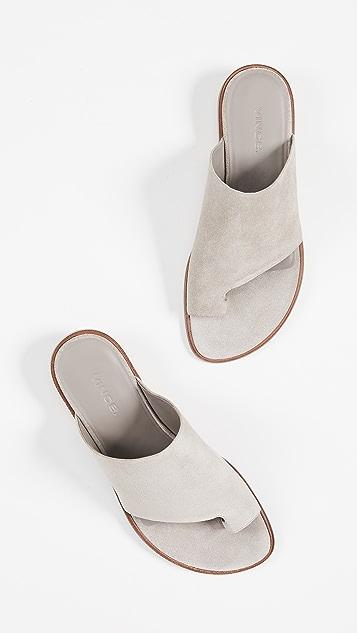 Vince Edris Toe Ring Slide Sandals