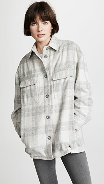Vince Plaid Shirt Jacket