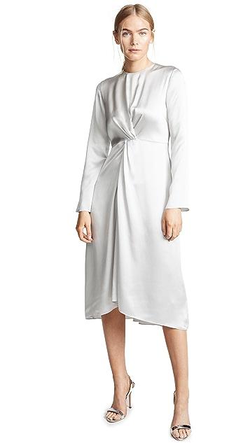 Vince Платье с перекрученной отделкой спереди