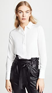 Vince Slim Fitted Popver Shirt