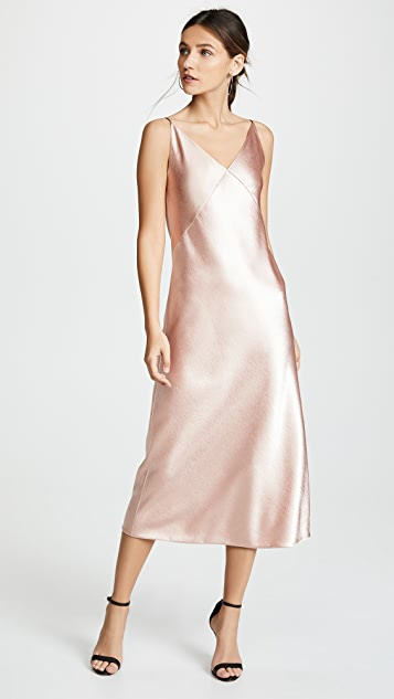 Vince V-Neck Bias Dress