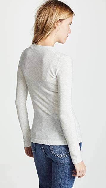 Vince Waffle Henley Pull Over