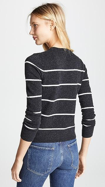 Vince Кашемировый свитер в полоску