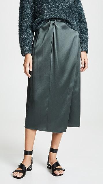 Vince Knot Paneled Skirt