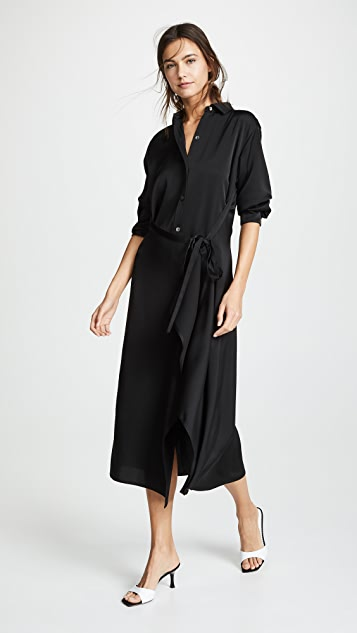 Vince Tie Front Shirtdress
