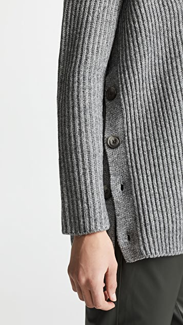 Vince Ribbed Button Cardigan
